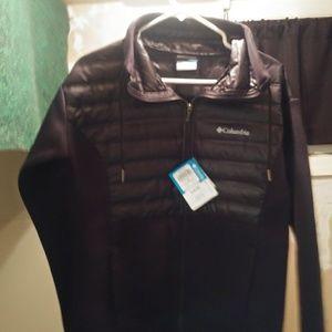 Columbia black down jacket